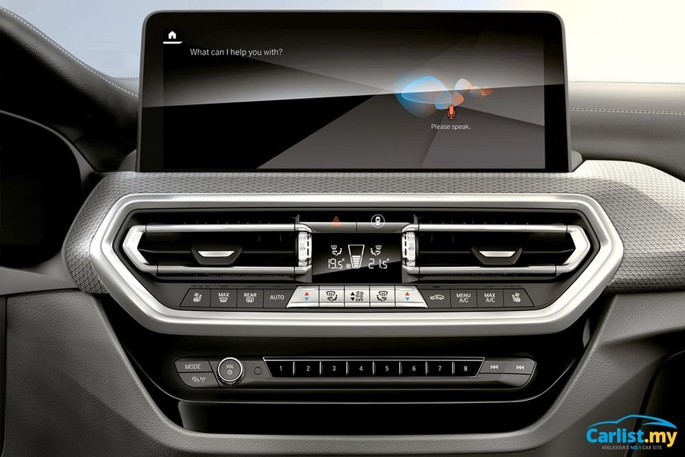 Facelifted BMW (G01) X3 and (G02) X4 LCI infotainment