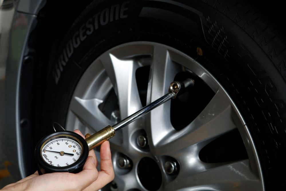 Check Tyre pressure during EMCO