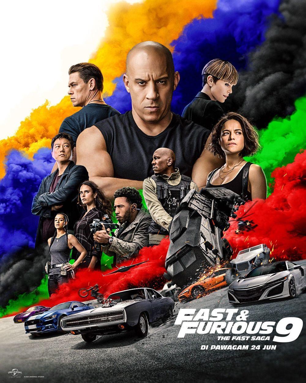 Fast and Furious 9,trailer,malaysia,tarikh tayangan,poster filem