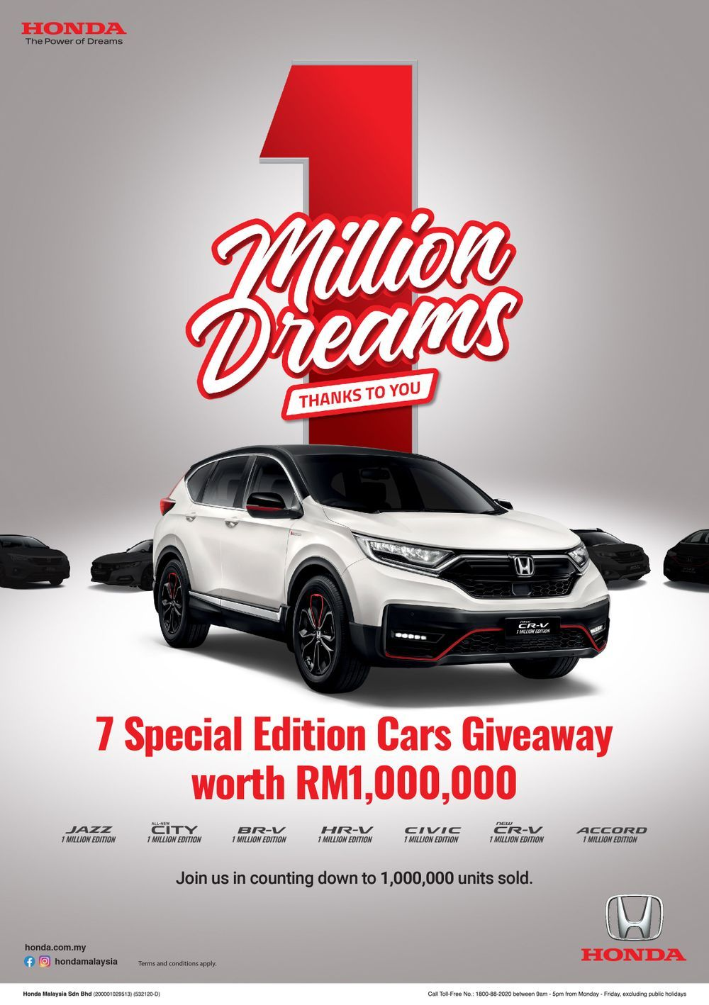 1 million dreams campaign, honda malaysia 2021, special edition