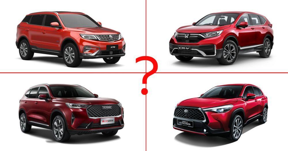 Proton X70,Haval H6,Toyota Corolla Cross,Honda CR-V