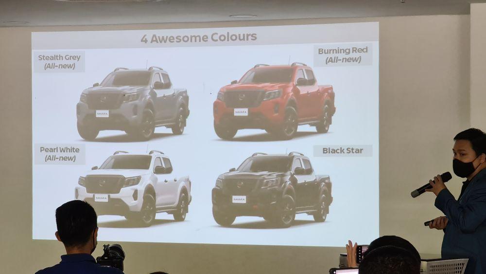Nissan Navara Pro-4X colour options