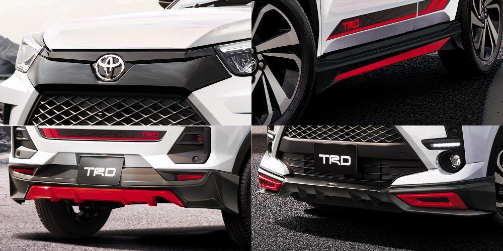 TRD body kit, Toyota raize, perodua ativa 2021, perodua D55L