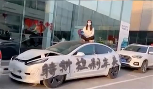 Henan - Tesla Model 3 Protestor