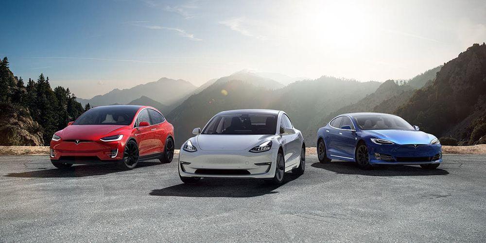 Tesla family of cars