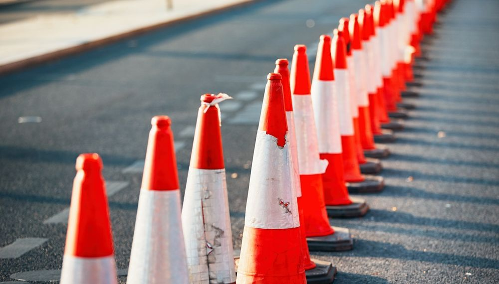 Traffic Cones - Road Works