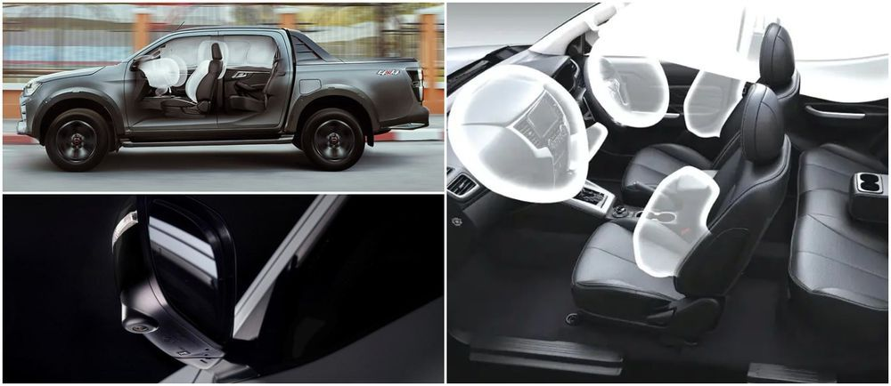 Nissan Navara PRO-4X, Mitsubishi Triton Athlete, Isuzu D-Max X Terrain safety features