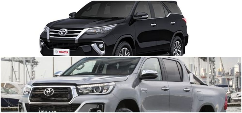 Toyota Hilux and Fortuner