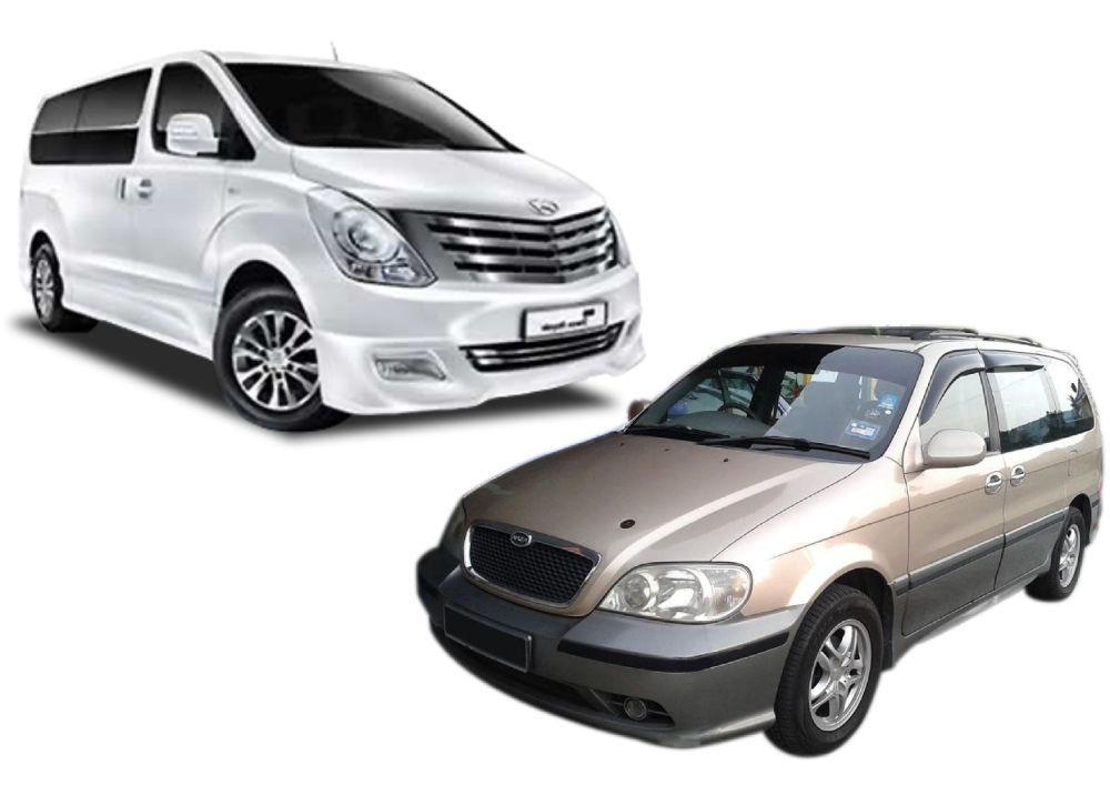 kereta Naza Ria dan Hyundai Starex jadi sasaran utama pencuri ekzos.