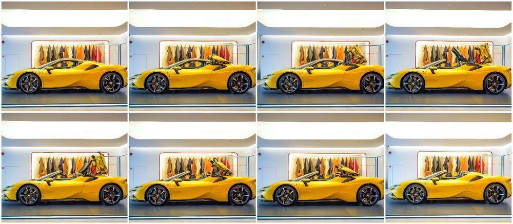 Ferrari SF90 Spider Malaysia roof opening