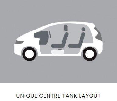 Honda Jazz, centre fuel tank