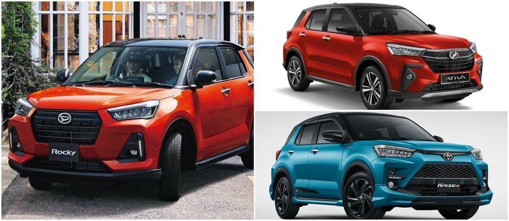 Perdoua Ativa VS Daihatsu Rocky VS Toyota Raize