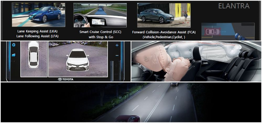 C-Segment Sedans safety features