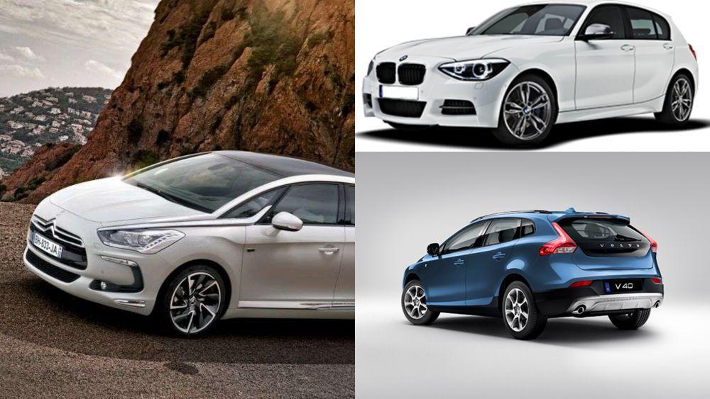 BMW F20, Citroen DS5, Volvo V40