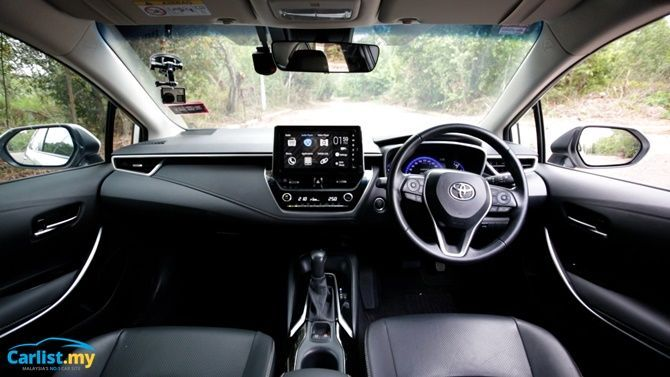 An Evergreen Experience Review 2020 Toyota Corolla 1 8 G Interior Wide View
