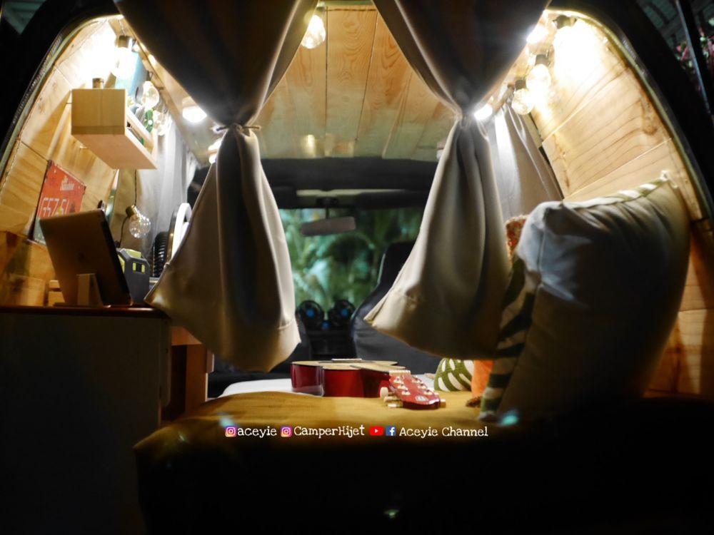 campervan, daihatsu hijet s85 minivan, malaysia, diy, ubahsuai