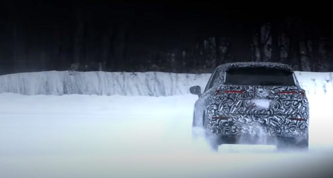 The 2022 Mitsubishi Outlander Makes Its Global Debut In 20 Days Sliding Snow