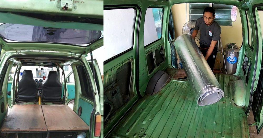 DIY campervan, daihatsu hijet S85, interior