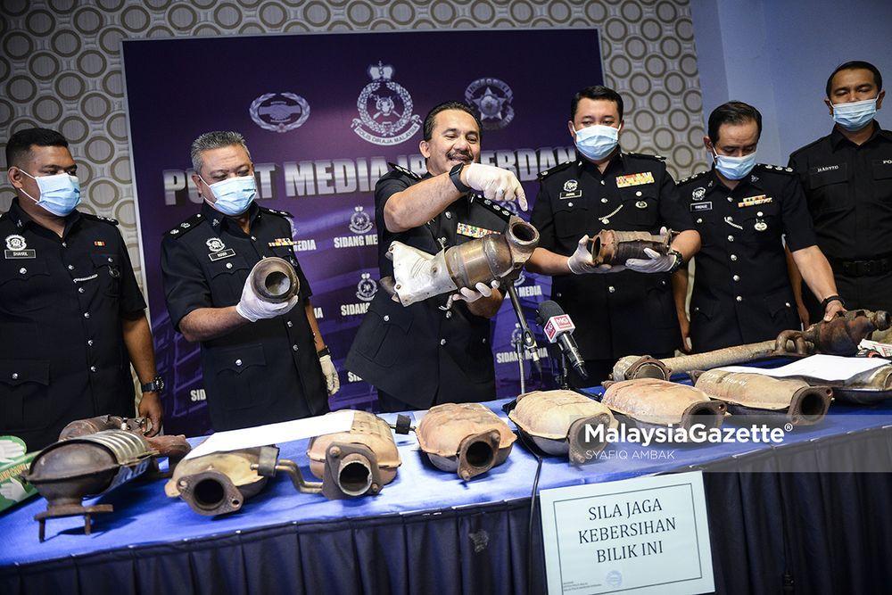 polis tangkap pencuri ekzos lembah klang