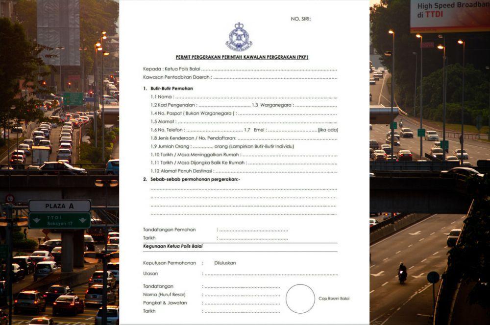 Surat kebenaran rentas negeri boleh didapati di balai polis berdekatan.