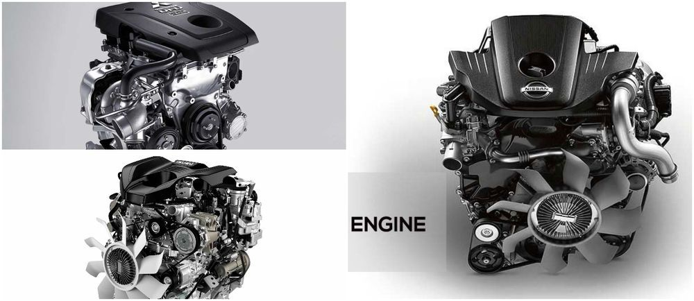 Nissan Navara Pro-4X, Mitsubishi Triton Athlete, Isuzu D-Max X-Terrain engines