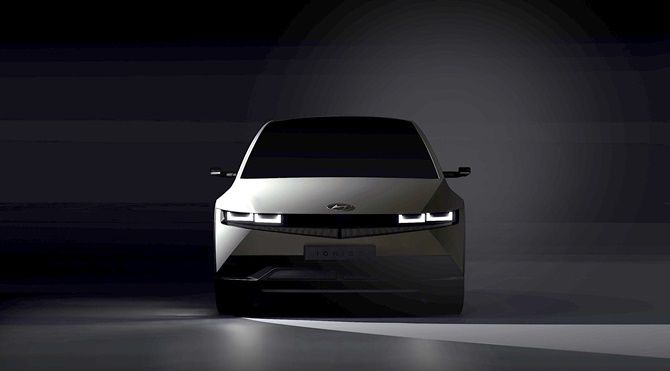 Hyundai Ioniq 5 Is Coming In A Months Time Here Are The Teasers Front View