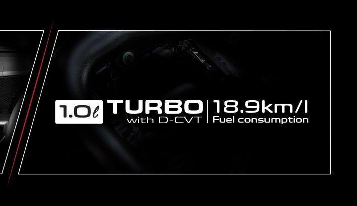 Enjin 1.0 liter Turbo, D-CVT, 3 silinder, Perodua Ativa 2021