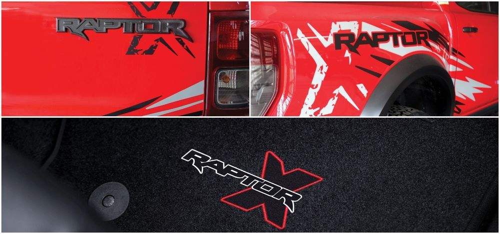 Ford Ranger Raptor X Special Edition floor mat and decals