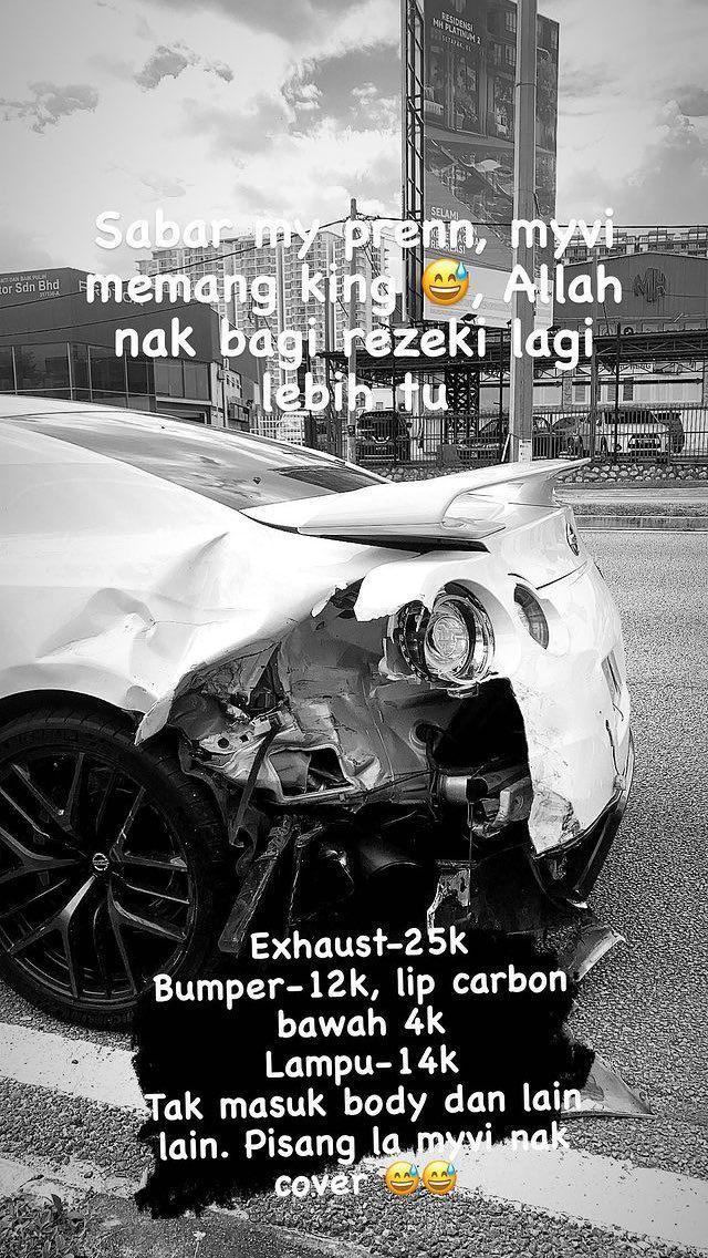 Instagram Story yang di upload oleh rakan pemandu