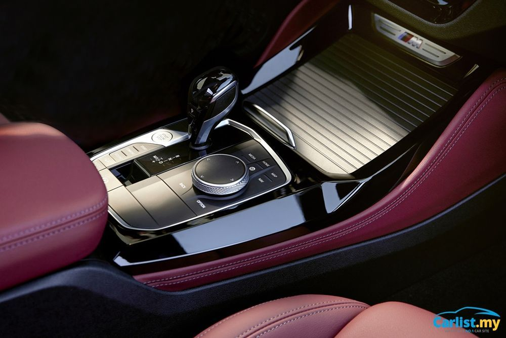 Facelifted BMW (G01) X3 and (G02) X4 LCI centre console