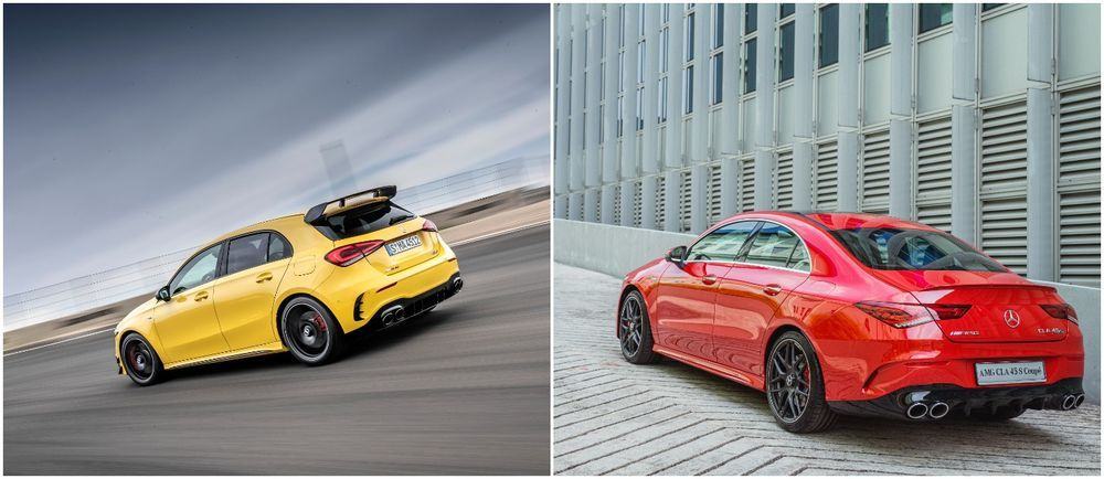 Mercedes-AMG A45 S 4MATIC+ and CLA 45 S 4MATIC+.