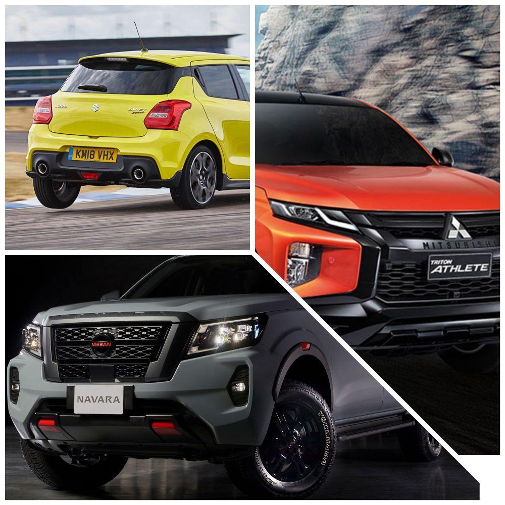 Suzuki Swift Sport, Nissan Navara Pro4X, Mitsubishi Triton Athlete