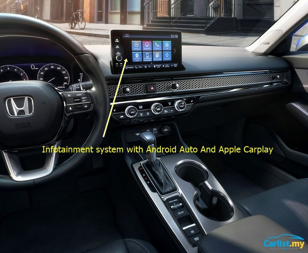 2022 All-New USDM Honda Civic infotainment
