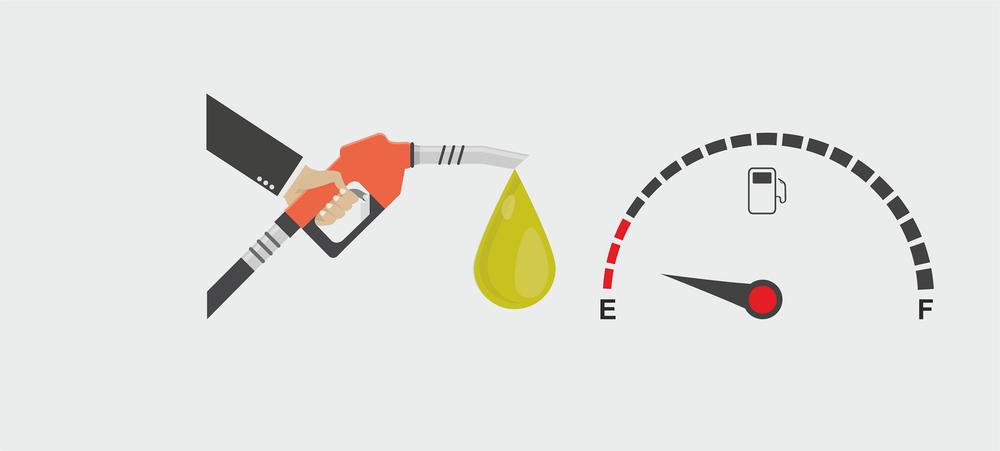 jimat minyak petrol, penggunaan bahan api yang kurang.