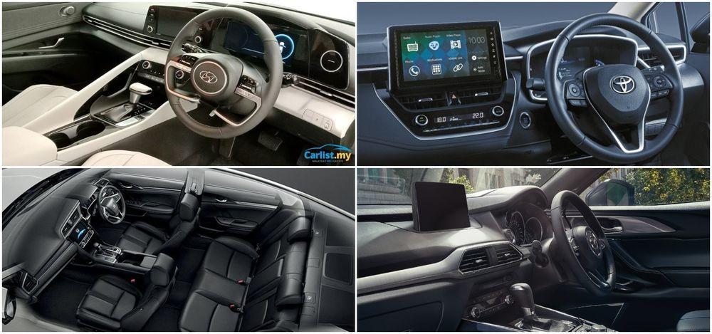 C-Segment sedan interiors