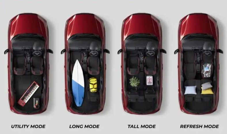 Honda City hatchback seat configuration