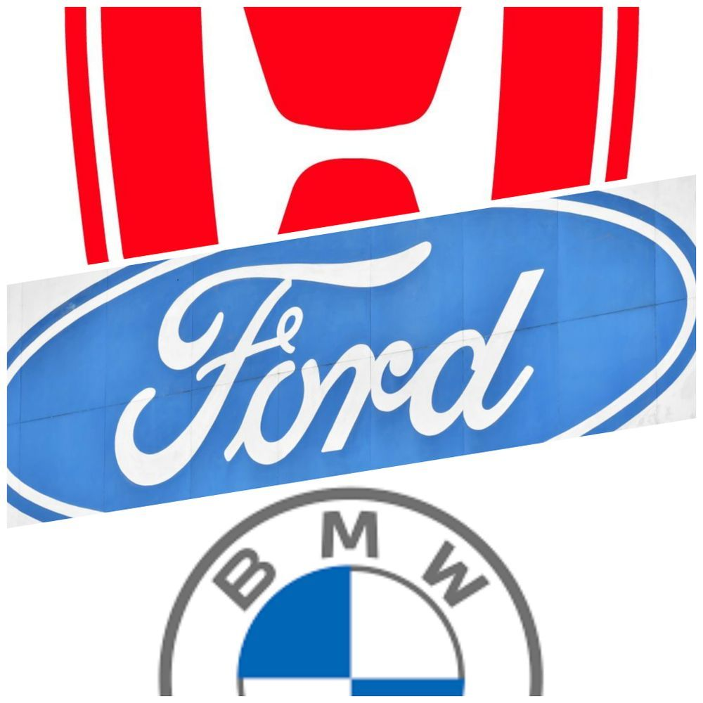 Honda, Ford, BMW logo