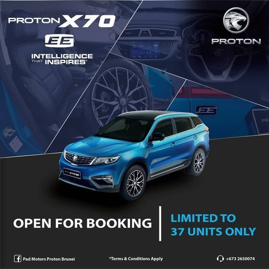 Proton x70 EE,X70 Exclusive Edition,Brunei,2021,terhad