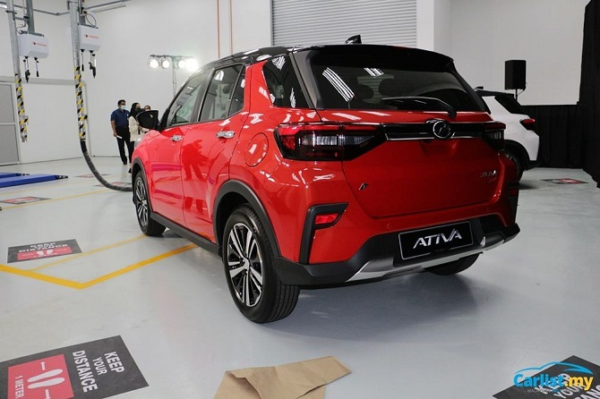 The Perodua Ativa and more vs Global Chip Shortages Rear Three Quarter