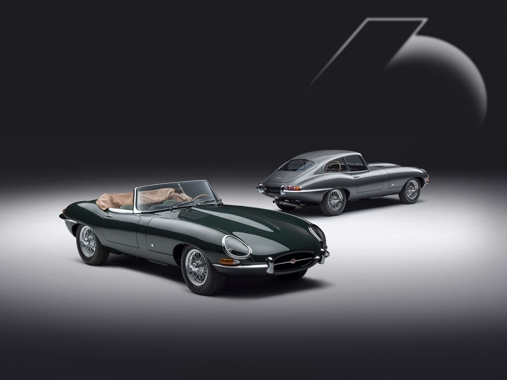 Jaguar E-type 60 Anniversary Roadster Coupe Side View
