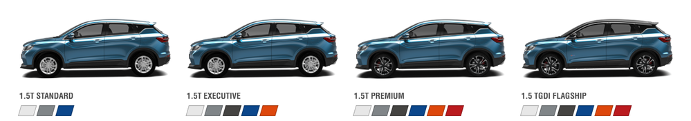 Proton X50,varian,premium,executive,TGDI Flagship