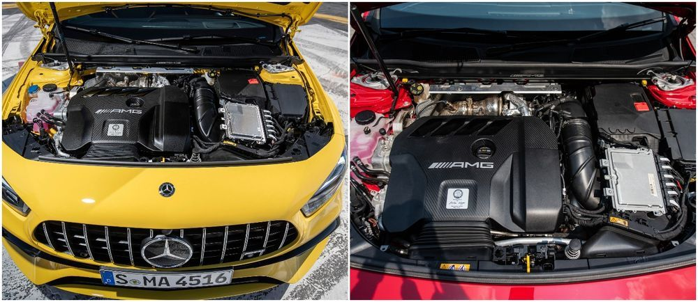 Mercedes-AMG A45 S 4MATIC+ and CLA 45 S 4MATIC+. engine