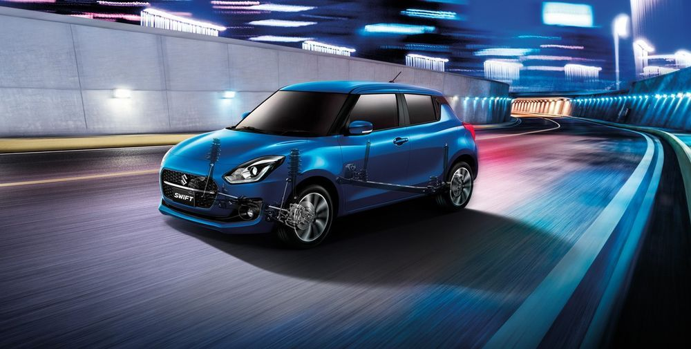 sistem suspension Suzuki Swift Facelift 2021