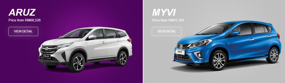 Harga Perodua Aruz dan Perodua Myvi