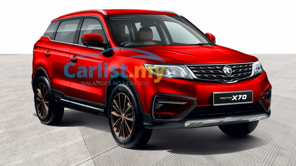 Warna Passion Red Proton X70 Special Edition