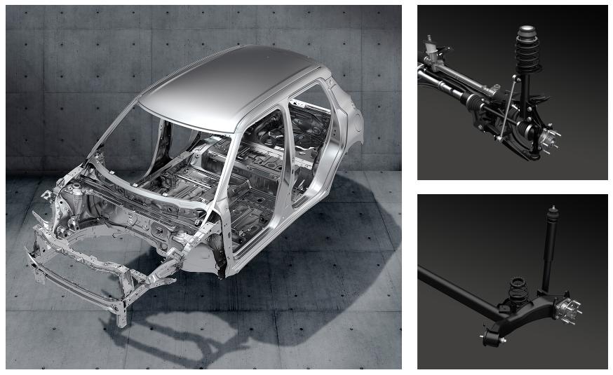 platform Heartect Suzuki,chasis,trailing arm,Swift Sport 2021