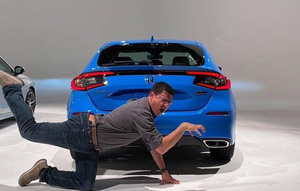 2022 Honda Civic hatchback leaked rear photo