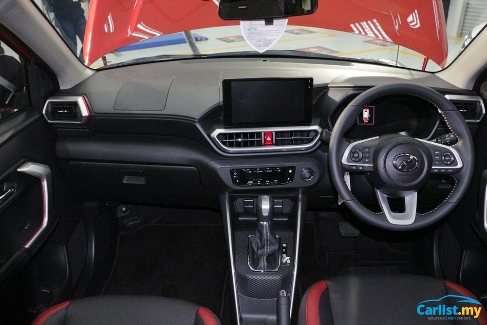 Perodua Ativa 2021, Perodua D55L, interior,