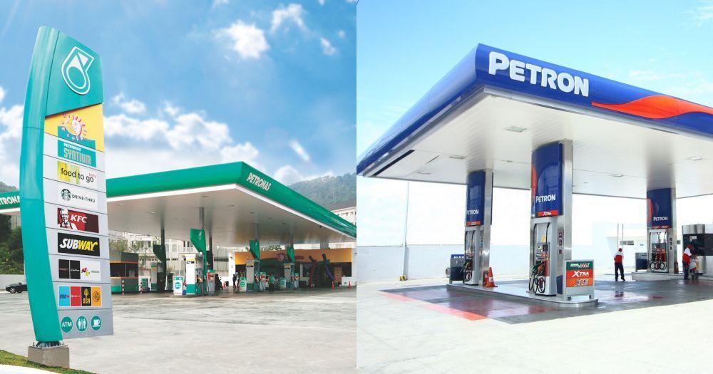 campur jenama minyak,petrol,petronas,petron