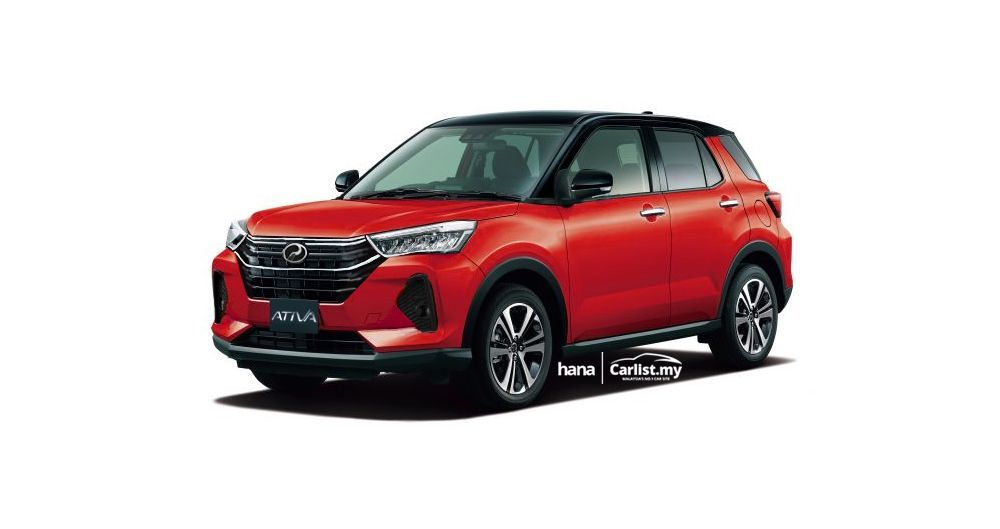 Perodua Ativa 2021, Perodua D55L, Daihatsu Rocky, Toyota Raize